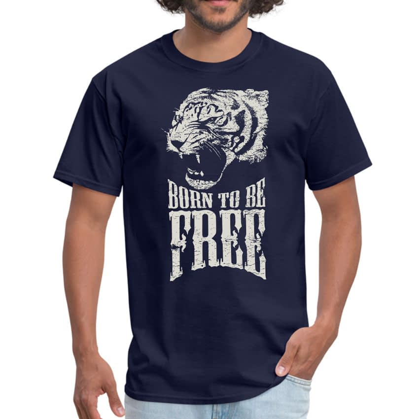 Born Free Tiger Uni-Sex T-shirt — Get Bent Tees