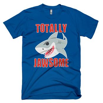 totally jawsome funny shark mum t-shirt
