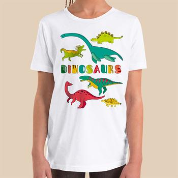 dinosaurs-boys-girls-Toddler-Youth-T-shirt-Bella-canvas-3001-mockup-2