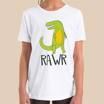 dinosaur-raw-boys-girls-Toddler-Youth-T-shirt-Bella-canvas-3001-4