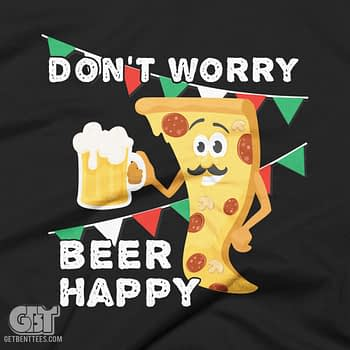 don't worry beer happy beer drinking funny quotes t-shirt