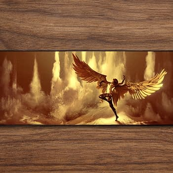 gold winged angel PC Gaming Mat PC Gaming Mouse Pad