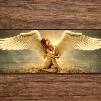 winged gold lady PC Gaming Mat PC Gaming Mouse Pad