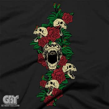 skull and roses skull clothing tshirt priate skull clothing