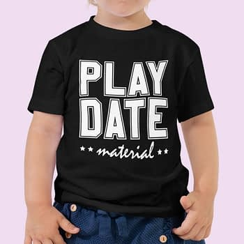 cute kids play-date-material-black Tshirts