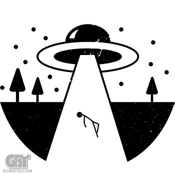 alien abduction retro custom t-shirt