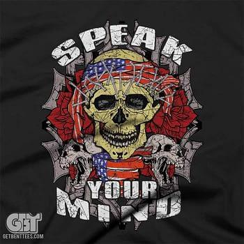 speak your mind skull clothing tshirt 2017 graphic tee 2018