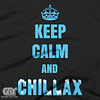 KEE3P CALM AND CHILLAX COOL FUNNY NETFLIX AND RAGE TSHIRTS