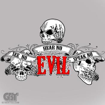skull clothing see no evil cool t shirts