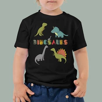 dinosaurs-boys-girls-Toddler-Youth-T-shirt-Bella-canvas-3001-mockup
