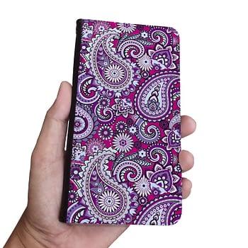 purple-paisley-pattern-Iphone-samsung-wallet-phone-case