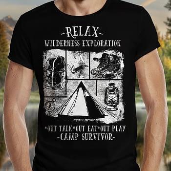 Camp Survivor Camping shirts for Dad
