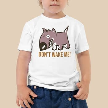 dont wake me funny kids toddler baby bella canvas tshirts