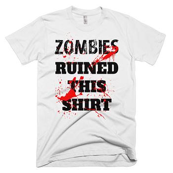 zombies ruined this shirt zombie shirt t-shirt christmas gift