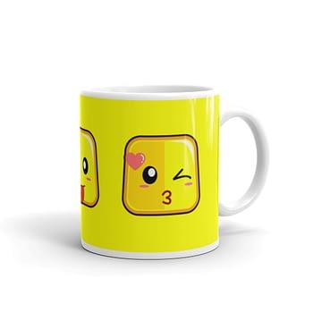 cool emoji emoticon coffee mug, cute coffee cups
