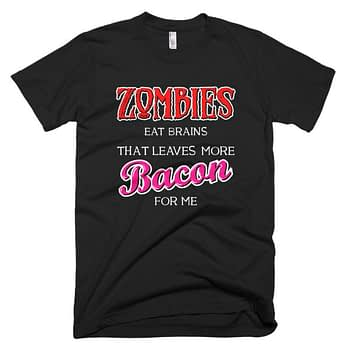 Zomibes funny t-shirt bacon funny shirt