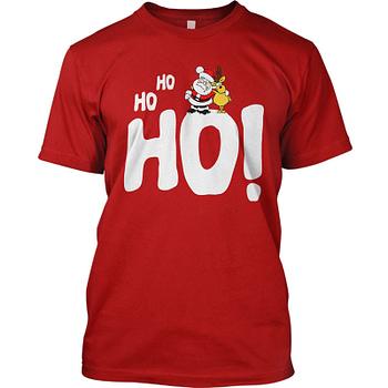 ho ho ho santa christmas tee t-shirt holiday gift for men and women