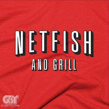 netflix parody tshirt netfish and grill