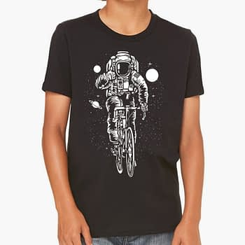 bicycle Space Kids Toddlers teenage youth cool trending t-shirt