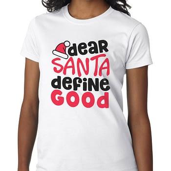 santa-define-good christmas gift tshirt mens womens tee