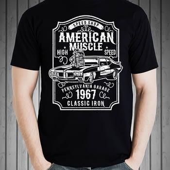 american muscle car tshirt