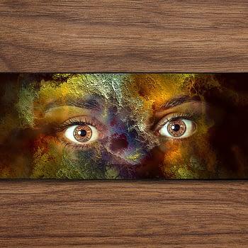 Scary Eyes PC Gaming Mat PC Gaming Mouse Pad