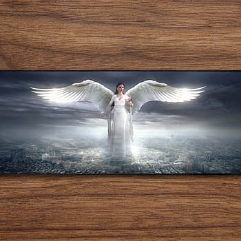 white winged angel PC Gaming Mat PC Gaming Mouse Pad