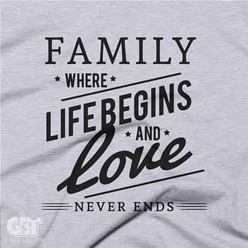 cool family quotes t-shirt