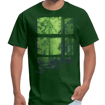 forest outdoors camping t-shirt