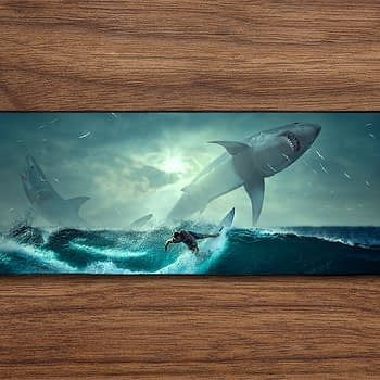 surfing shark PC Gaming Mat PC Gaming Mouse Pad