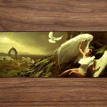 Angel Dove Woman PC Gaming Mat PC Gaming Mouse Pad