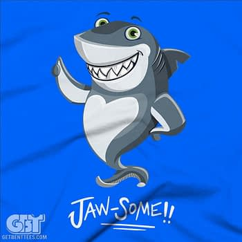 JAWSOME FUNNY SHARK T-SHIRT